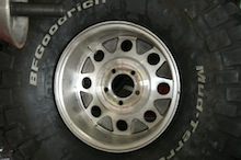 Assembled Tire Showing Location of New Valve Stem